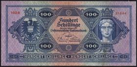 Österreich / Austria P.091 100 Schilling 1925 (3+)