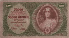 Österreich / Austria P.080 50.000 Kronen 1922 (3)