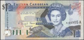 Ost Karibik / East Caribbean P.27a 10 Dollars (1993) (1)