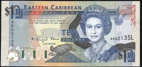 Ost Karibik / East Caribbean P.27l 10 Dollars (1993) (1)