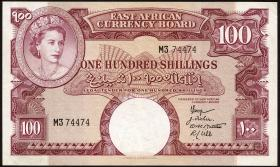 Ost Afrika / East Africa P.40 100 Shillings (1959-60) (3+)