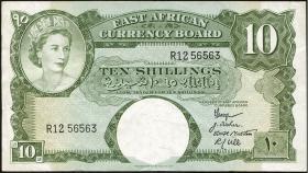 Ost Afrika / East Africa P.38 10 Shillings (1959-60) (3)