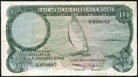 Ost Afrika / East Africa P.46 10 Shillings (1964) (3-)