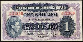 Ost Afrika / East Africa P.27 1 Shilling 1943 (3)