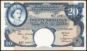 Ost Afrika / East Africa P.43b 20 Shillings (1962-63) (3)
