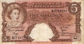 Ost Afrika / East Africa P.37 5 Shillings (1959-60) (3)
