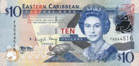 Ost Karibik / East Caribbean P.48 10 Dollars (2008) (1)