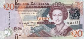 Ost Karibik / East Caribbean P.53 20 Dollars (2012)