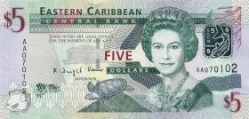 Ost Karibik / East Caribbean P.47 5 Dollars (2008) (1)