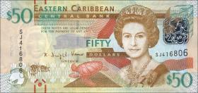 Ost Karibik / East Caribbean P.54 50 Dollars (2012)