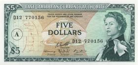 Ost Karibik / East Caribbean P.14i 5 Dollars (1965) (1)