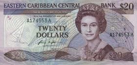 Ost Karibik / East Caribbean P.19a 20 Dollars (1987-88) (1)