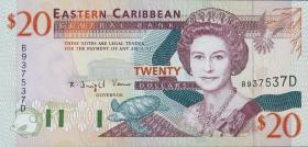 Ost Karibik / East Caribbean P.33d 20 Dollars (1994) (1)
