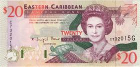 Ost Karibik / East Caribbean P.33g 20 Dollars (1994) Grenada (1)