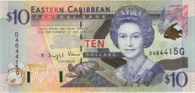 Ost Karibik / East Caribbean P.38g 10 Dollars (2000) Grenada (1)