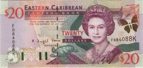 Ost Karibik / East Caribbean P.39k 20 Dollars (2003) St. Kitts (1)