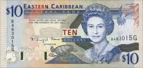 Ost Karibik / East Caribbean P.32g 10 Dollars (1994) (1)