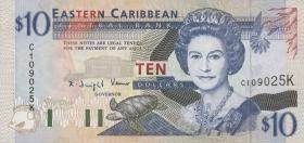 Ost Karibik / East Caribbean P.32k 10 Dollars (1994) (1)