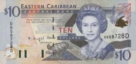 Ost Karibik / East Caribbean P.38d 10 Dollars (2000) (1)