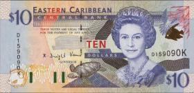 Ost Karibik / East Caribbean P.38k 10 Dollars (2000) (1)