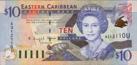Ost Karibik / East Caribbean P.38u 10 Dollars (2000) (1)