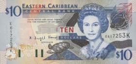 Ost Karibik / East Caribbean P.43k 10 Dollars (2003) (1)