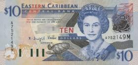Ost Karibik / East Caribbean P.43m 10 Dollars (2003)