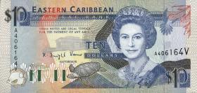 Ost Karibik / East Caribbean P.27v 10 Dollars (1993) (1)