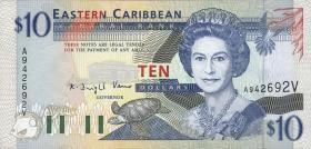 Ost Karibik / East Caribbean P.32v 10 Dollars (1994) (1)