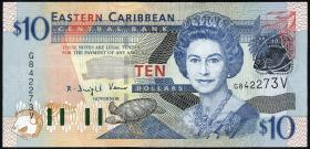 Ost Karibik / East Caribbean P.43v 10 Dollars (2003) (1)