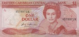 Ost Karibik / East Caribbean P.17k 1 Dollar (1985-88)