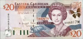 Ost Karibik / East Caribbean P.39m 20 Dollars (2000) Montserrat (1)