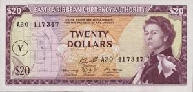Ost Karibik / East Caribbean P.15o 20 Dollars (1965)