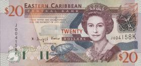 Ost Karibik / East Caribbean P.44k 20 Dollars (2003)