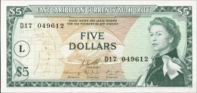Ost Karibik / East Caribbean P.14m 5 Dollars (1965) (1)
