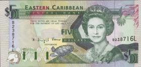 Ost Karibik / East Caribbean P.26l 5 Dollars (1993) (1)