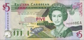 Ost Karibik / East Caribbean P.31a 5 Dollars (1994) (1)