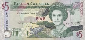 Ost Karibik / East Caribbean P.31d 5 Dollars (1994) (1)