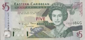 Ost Karibik / East Caribbean P.31g 5 Dollars (1994) (1)