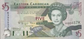 Ost Karibik / East Caribbean P.31k 5 Dollars (1994) (1)