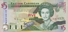 Ost Karibik / East Caribbean P.31l 5 Dollars (1994) (1)