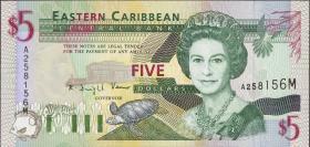 Ost Karibik / East Caribbean P.31m 5 Dollars (1994) (1)