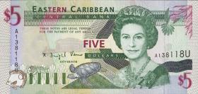 Ost Karibik / East Caribbean P.31u 5 Dollars (1994) (1)