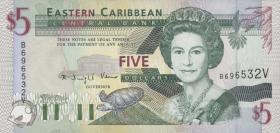 Ost Karibik / East Caribbean P.31v 5 Dollars (1994) (1)
