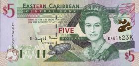 Ost Karibik / East Caribbean P.37k 5 Dollars (2000) (1)