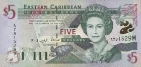 Ost Karibik / East Caribbean P.37d 5 Dollars (2000) Dominica (1)