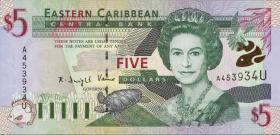 Ost Karibik / East Caribbean P.37u 5 Dollars (2000) (1)