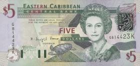 Ost Karibik / East Caribbean P.42k 5 Dollars (2003) (1)