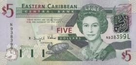 Ost Karibik / East Caribbean P.42l 5 Dollars (2003) (1)