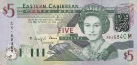 Ost Karibik / East Caribbean P.42m 5 Dollars (2003) (1)